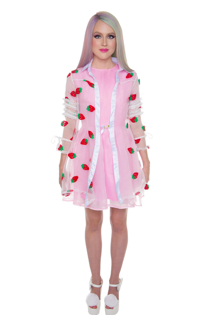 Strawberry Pie Sheer Trench