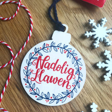 Load image into Gallery viewer, Nadolig Llawen Christmas Decoration