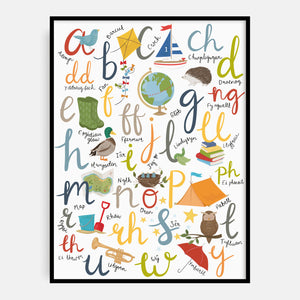 Welsh Outdoor Alphabet Print