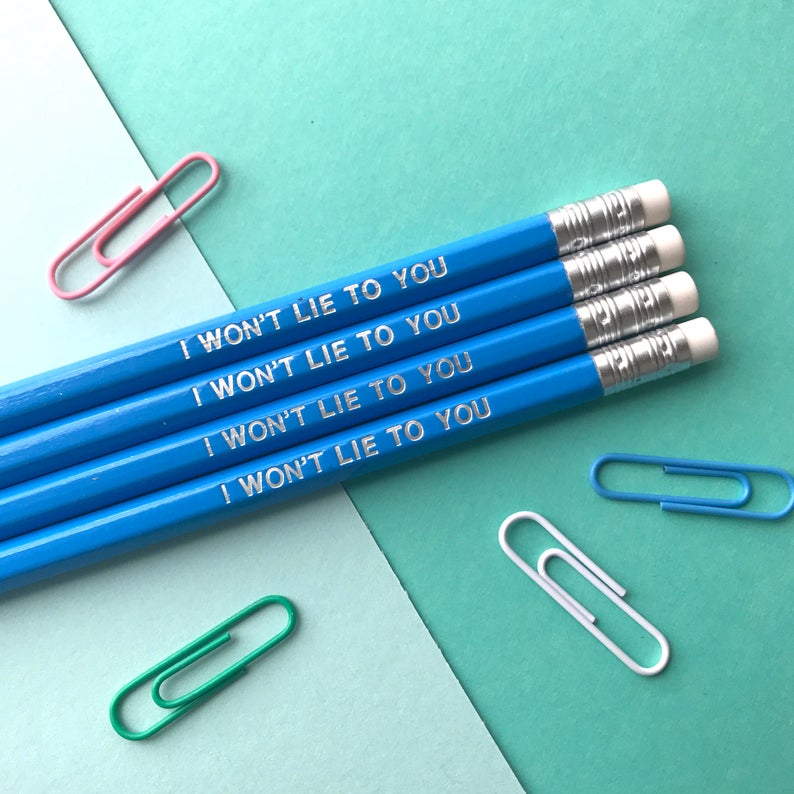 I Won't Lie Blue Welshism Pencil