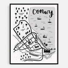 Load image into Gallery viewer, English Conwy Map Print