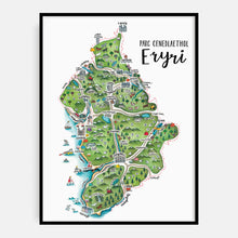 Load image into Gallery viewer, Eryri Map Print