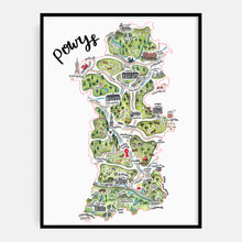Load image into Gallery viewer, Powys Map Print