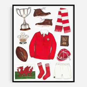 Welsh Rugby Print