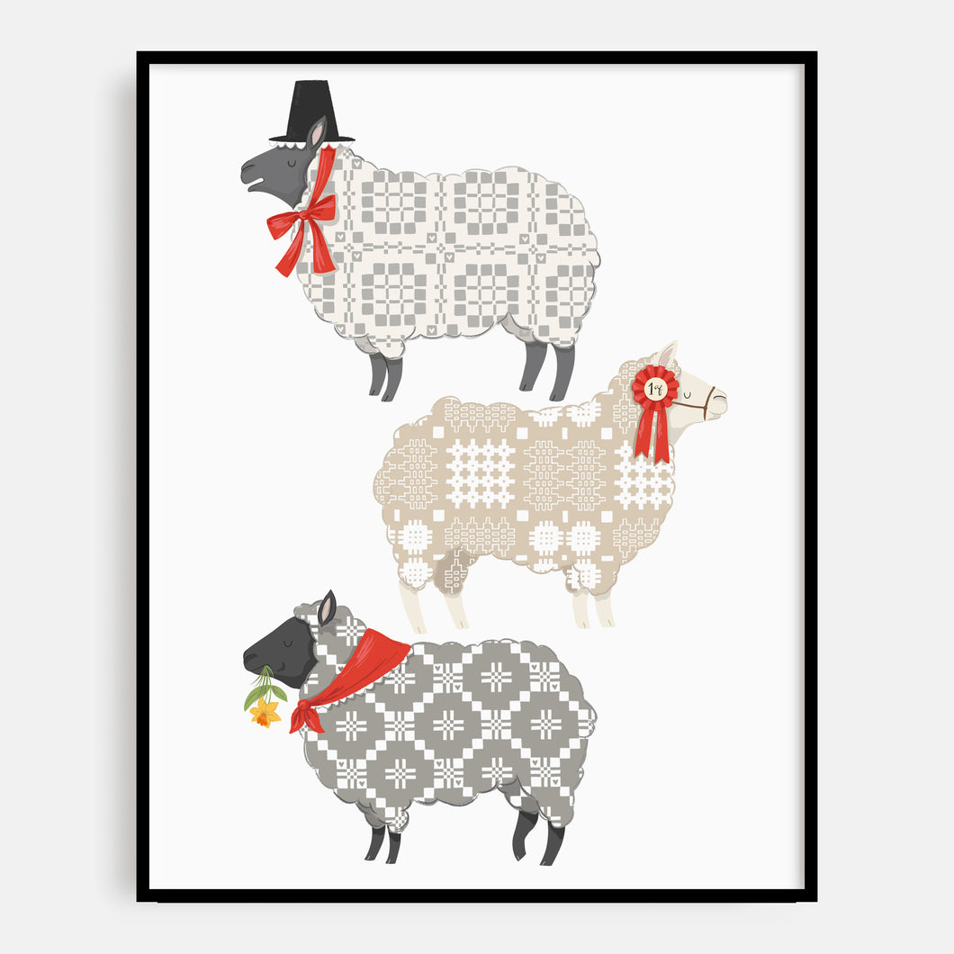 Welsh Sheep Print