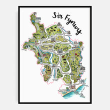 Load image into Gallery viewer, Sir Fynwy Map Print