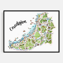 Load image into Gallery viewer, Welsh Ceredigion Map Print