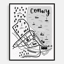Load image into Gallery viewer, Welsh Conwy Map Print