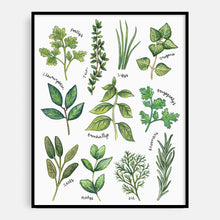 Load image into Gallery viewer, Welsh Language Herbs Print