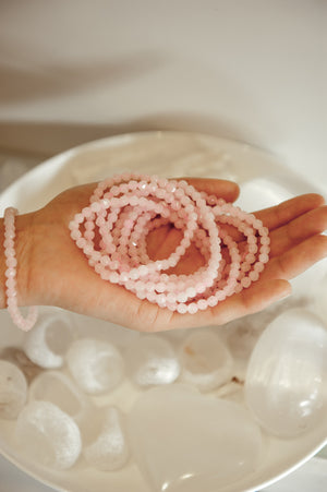 rose quartz braclet