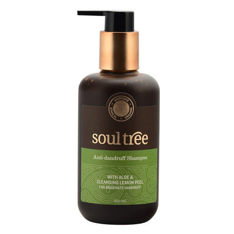 SoulTree | Anti-Dandruff Shampoo | With Aloe & Cleansing Lemon Peel | For Moderate Dandruff