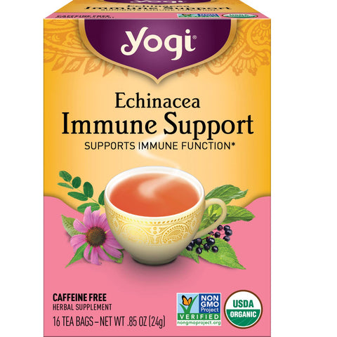 Echinacea Immune Support | Herbal Tea | 16 Tea Bags