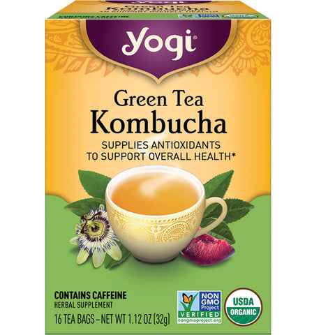 Green Tea Kombucha | Herbal Tea | 16 Tea Bags | Supplies Antioxidants