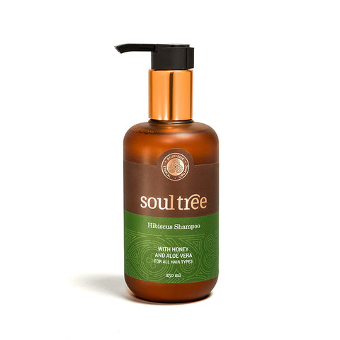SoulTree | Hibiscus Shampoo - Honey and Aloe Vera, for All Hair Types