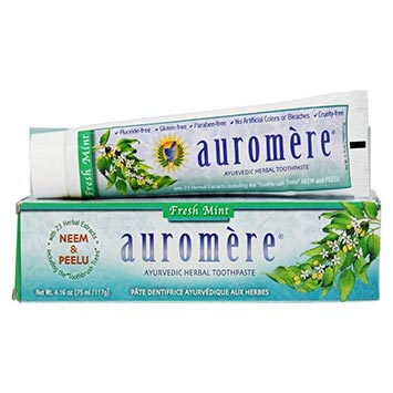 Auromere | Ayurvedic Herbal Toothpaste | Fresh Mint