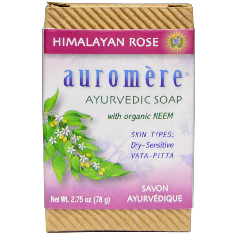 Ayurvedic Soap, with Organic Neem, Himalayan Rose (78 g)