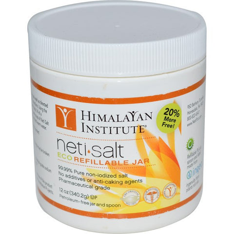 Himalayan Institute Neti Salt | Eco Refillable Jar | 340.2gm
