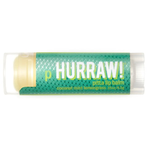Hurraw! Pitta Lip Balm, Coconut Mint Lemongrass  (4.3 g)
