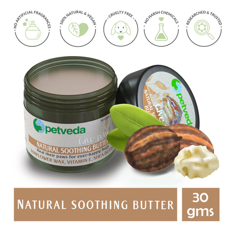 Paw Cream | Soothing Butter for Paws, Nose & Elbow | for Dogs & Cats | No Sulphate & Parabens | 30gm