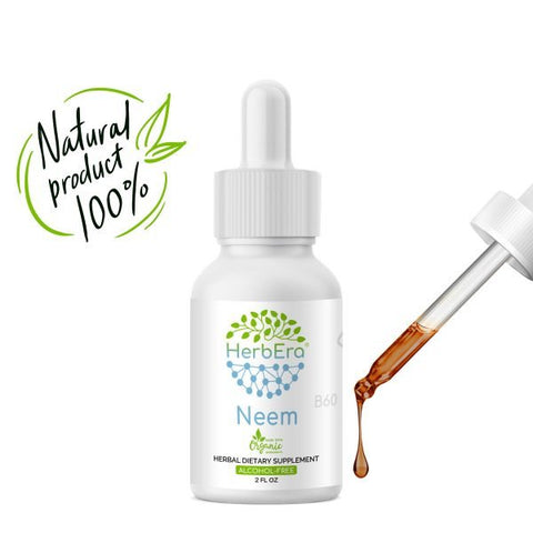 Neem Herbal Extract Tincture | Organic | Alcohol-FREE | 60ml | Made in USA