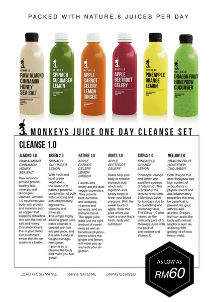 3MJ Monthly Cleanse Package