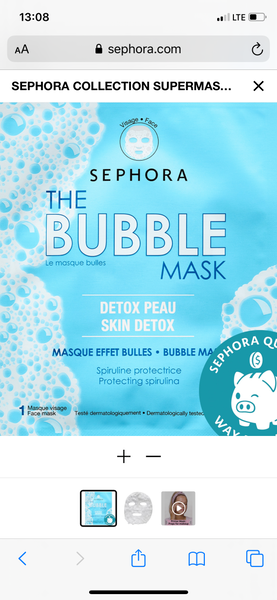 Sephora collection the bubble mask - EyeSeeHue