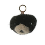 Mink Fur Charm Bear Head