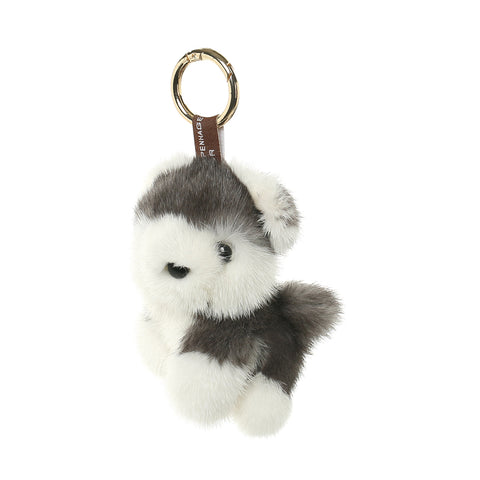 Mink Fur Charm Dog