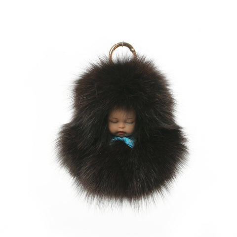 Fox Fur Charm Sleeping Baby