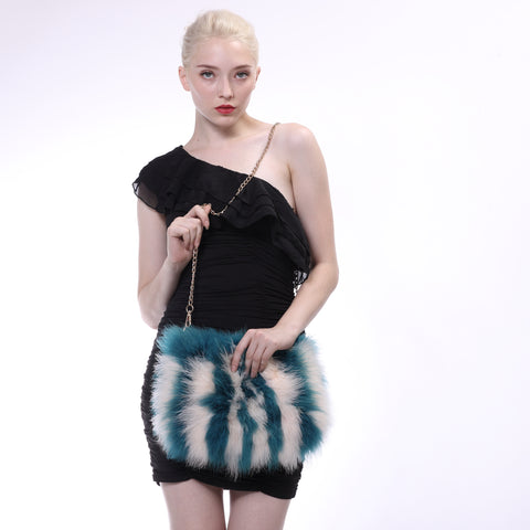 Ostrich Feather Fur Crossbody Bag