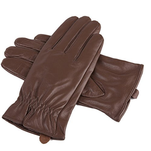 URSFUR Womens Genuine Lambskin Leather Gloves Girls