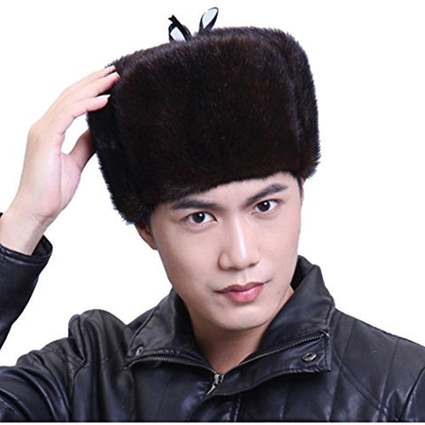 URSFUR Mink Full Fur Russian Hat