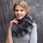 Women's Fur Scarf Collar Wrap,Winter Neck Warmer Infinity Scarf for Dress/Coat