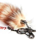 URSFUR 11inches Raccoon Tail Fur Cosplay Toy Haning Ornaments Bag Key Chain