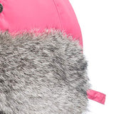 URSFUR Unisex Winter Trooper Hat Real Rabbit Fur Russian Aviator Ushanka Trapper Mask