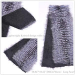 Winter Real Fox Fur Long Scarf for Women-Fur Shawl Wraps,Neck Warm Fur Collar for Party