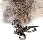URSFUR Huge Fluffy Golden Island Fox Tail Key Chain Fur Cosplay Toy Accessory