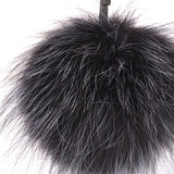 URSFUR Soft Fox Pom Keychain Phone Bag Charm Pendant Fur Ball Key Chain Ring