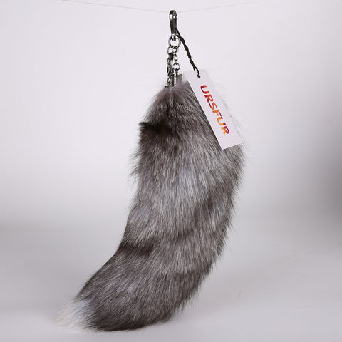Real Fox Tail Cosplay Toy Fur keychain Alopex Lagopus Handbag Accessories Key Chain Ring Hook Tassels