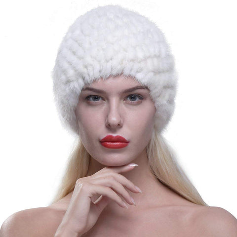 Women's Mink Fur Knit Beanie