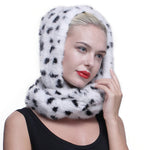 Authentic Knit Mink Fur Infinity Hood Scarf
