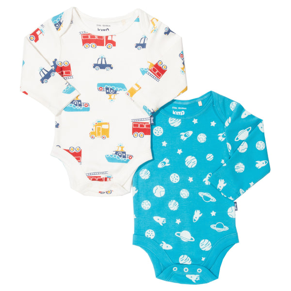 Rescue Squad and Space 2pk bodysuits. The Little Owl's Nest Children's Clothing
