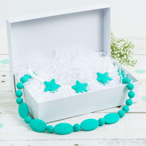 Mum and Child Gift set in Aqua