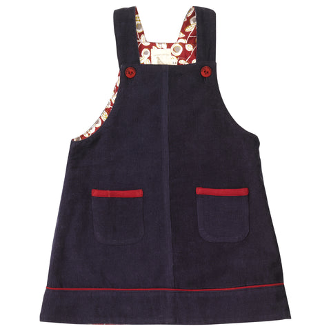 Navy pinafore dress. The Little Owl's Nest Children's Clothing