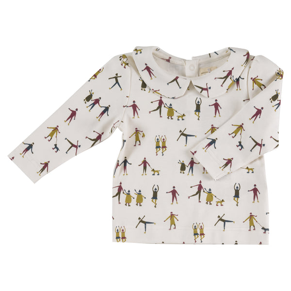 Skater Print Jersey Blouse. The Little Owl's Nest Children's Clothing