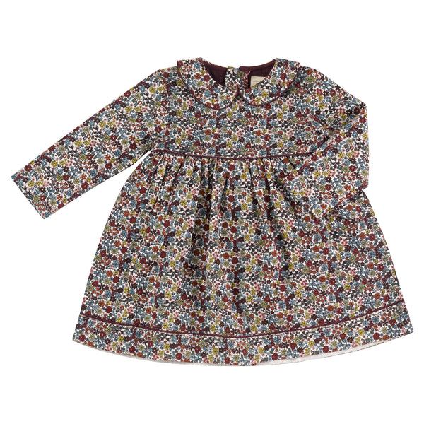 Winter Ditsy Print Dress. The Little Owl's Nest Children's Clothing