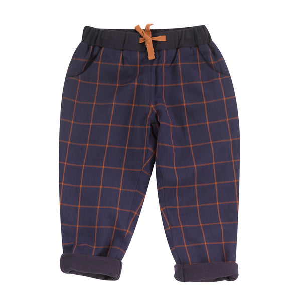 Tartan Check Trousers. The Little Owl's Nest Children's Clothing