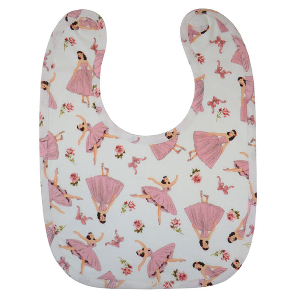 Ballerina bib in Pink. From Powell Craft at The Little Owls Nest.