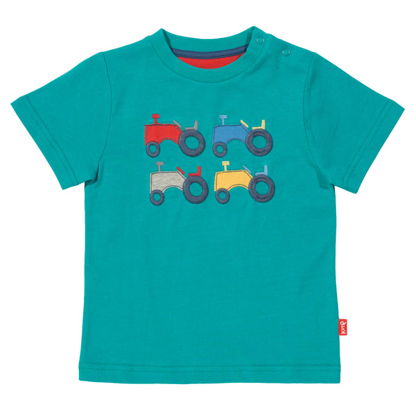 Green Tractor Tee. The Little Owl's Nest Children's Clothing