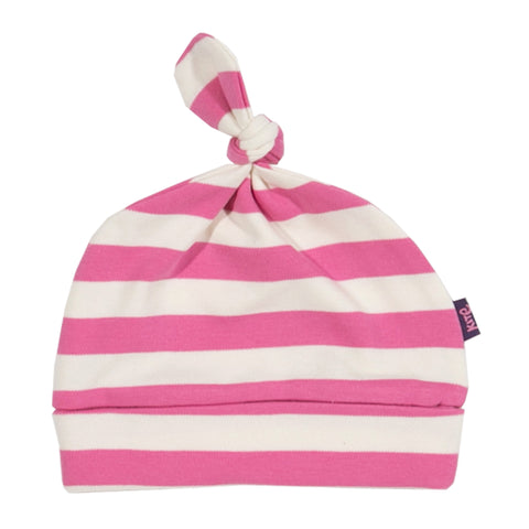 Pink and white stripy hat from Kite Clothing at The Little Owls Nest.